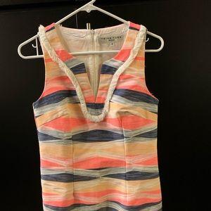 Trina Turk shift dress size 4, fringe detail